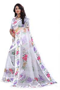 Digital Print Organza Silk Saree
