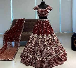 Embroidered Phantom Silk Lehenga Choli