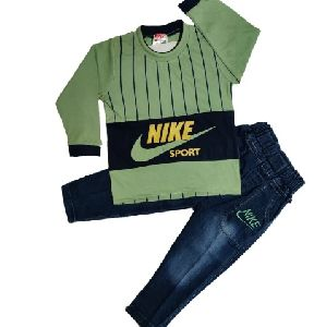 Boys Cotton T Shirt and Jeans Set