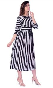 Rayon Striped Kurtis