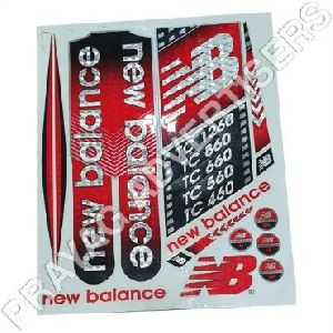 PC 3D Cricket Bat Sticker