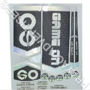 Print Matt Embossed Cricket Bat Sticker