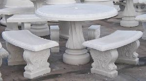 Marble Patio Table Set