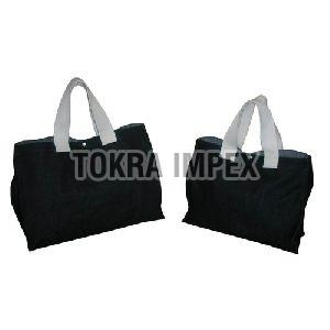 Denim Tote Bag with Cotton Handle