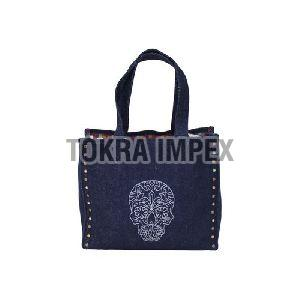 Designer Denim Tote Bag