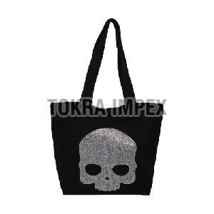 Dyed Canvas Tote Bag with Web Handle