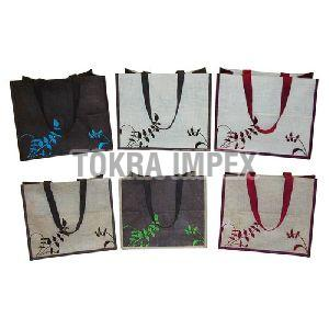 Embroidered PP Laminated Jute Bag