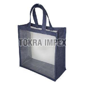 PVC Jute Window Bag With Jute Handle