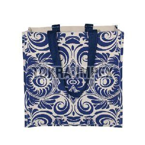 Laminated Canvas Tote Bag with Cotton Web Handle