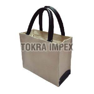 PP Laminated Canvas Bag With Padded Rope Handle