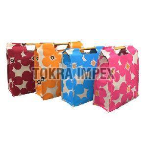 PP Laminated Juco Shopping Bag with Bamboo Handle