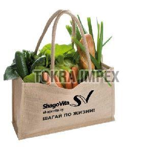 PP Laminated Jute Grocery Bag With Padded Rope Handle