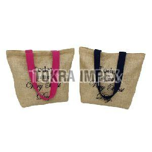 PU Trimmed Metal Fitted Canvas Designer Tote Bag