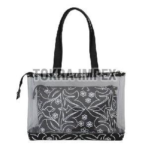 PVC and Jute Tote Bag With Pouch