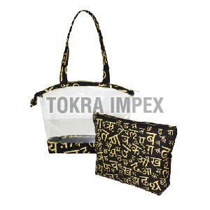 PVC Canvas Bag With Pouch