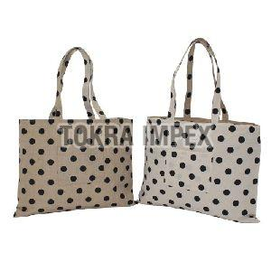Reversible Jute Cotton Tote Bag