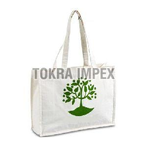 Cotton Canvas Promotional Bag With Screen Print & Self Handle