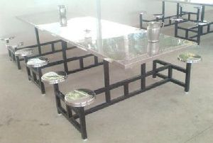 12 Seater Stainless Steel Canteen Table