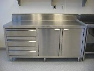 Stainless Steel Cabinet Table