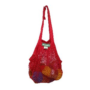 Ecology Reusable Organic Cotton Red String Bags