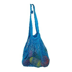 Reusable Sky Blue Color Net Grocery Shopping String Bag