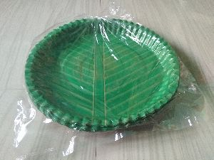 Green Paper Plate