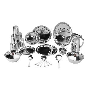 Stainless Steel 37 Pieces China Dinner Set