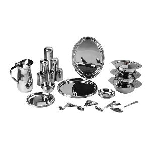 Stainless Steel 51 Pieces China Dinner Set