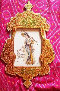 Gold Leaf Art Embossed Photo Frame