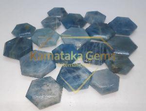 Aquamarine Stone Flat Hexa