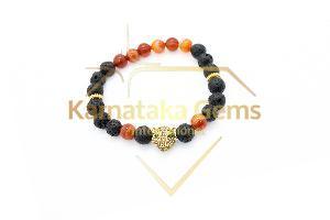 Lava Carnelian Bracelet