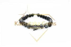 Lava Larvikite Bracelet