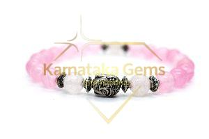 Rose Quartz Charm Bracelet