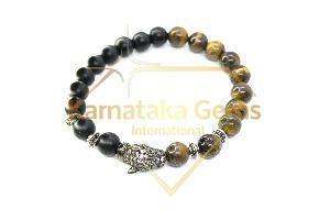 Tiger Tourmaline Charm Bracelet