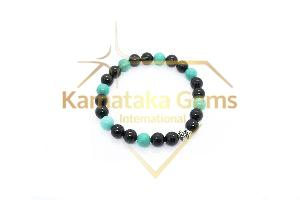 Tourmaline Turquoise Charm Bracelet