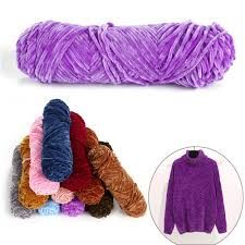 Chenille Yarn Polyester & Cotton (RW / Dyed)