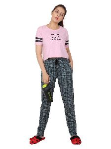 Ladies Printed Track Pants