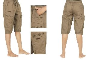 Mens Cotton Cargo Capri