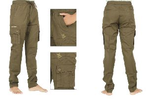 Mens Cotton Cargo Track Pant