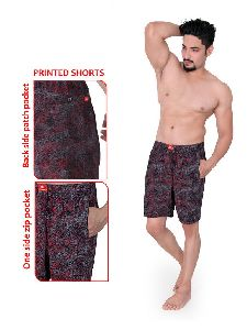 Mens Hosiery Printed Shorts