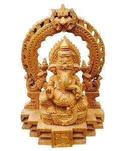 6 Inch Wooden Ganesh Statue