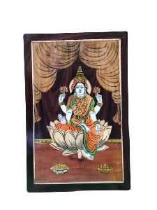 Wooden Lord Laxmi Wall Hanging