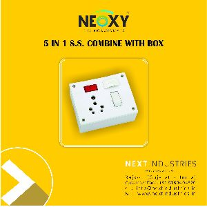 5 in 1 switch and socket combine with box