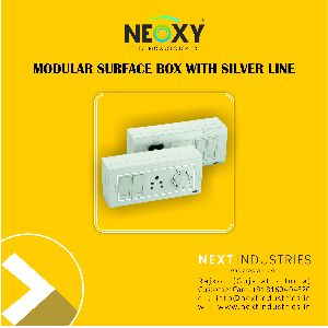 Modular Surface Box with silver line