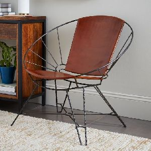 Round Iron Chair