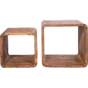 Wooden Cube Coffee Table