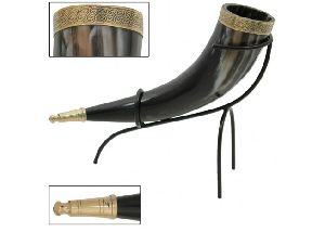 Cow Horn Metal Stand