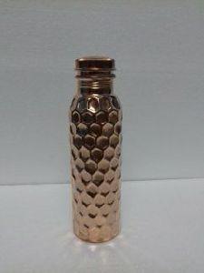 Diamond Hammered Copper Bottle