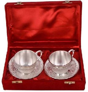 Silver Plated Brass Cup Set