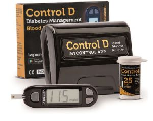 Control D Glucometer with 25 Strips